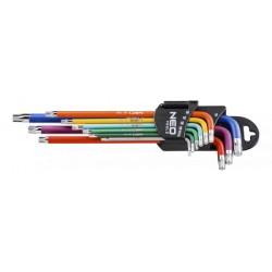 Torx-Stiftschlüsselsatz (färbig)